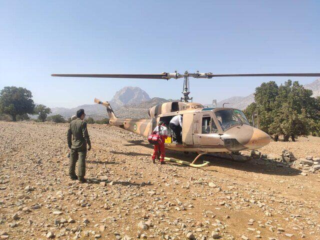 امدادرسانی هوایی در روستای دورک دزفول