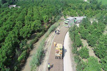 بهسازی ۶ کیلومتر از محورهای روستایی شهرستان قائمشهر