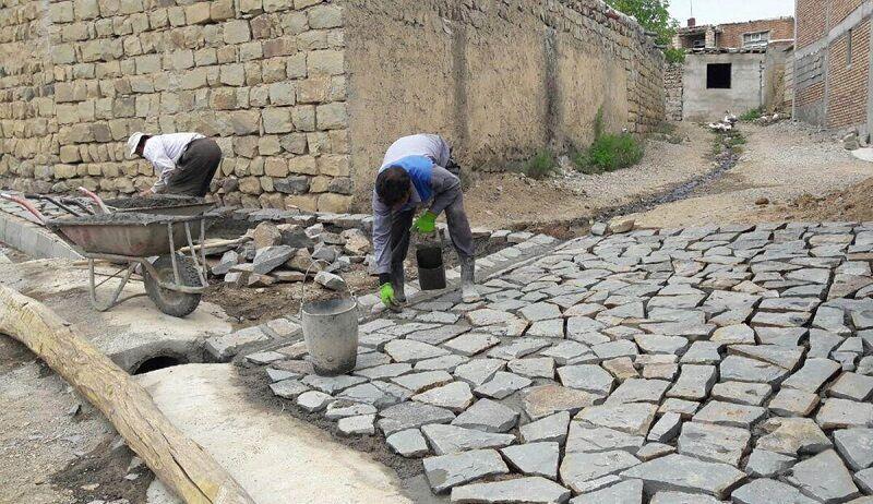 سنگ فرش گذرگاه های روستایی استان اصفهان