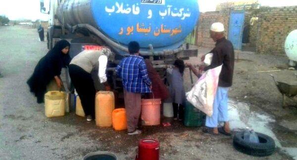 ٣/۵ میلیون لیتر آب تانکری در روستاهای نیشابور توزیع شد