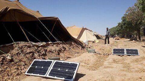 ۲۷ دستگاه پنل خورشیدی بین عشایر فاروج توزیع شد