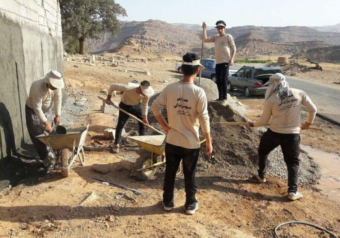 اردوی جهادی در روستای «بارده» در جنوب کرمان برگزار شد